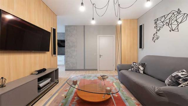furniture ruang keluarga minimalis