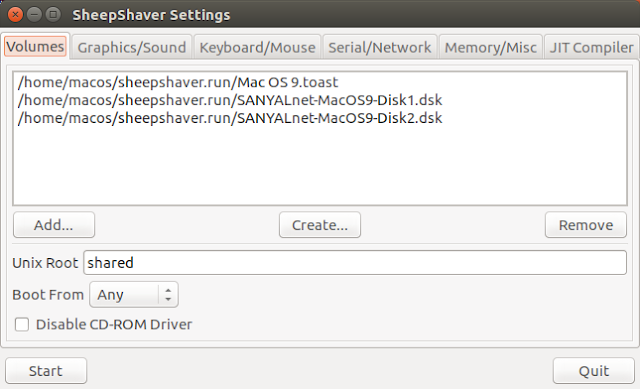 Supratim Sanyal's Blog: SheepShaver Mac OS 9 Disk Configuration on Ubuntu Linux