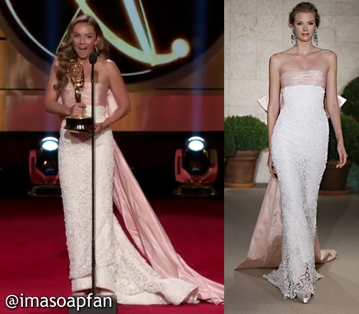 Lexi Ainsworth, Kristina Davis Corinthos, 2017 Daytime Emmy Awards Dress, Oscar de la Renta