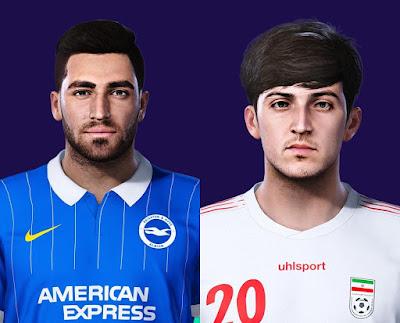 PES 2021 Faces Alireza Jahanbakhsh & Sardar Azmoun by ds07nwt