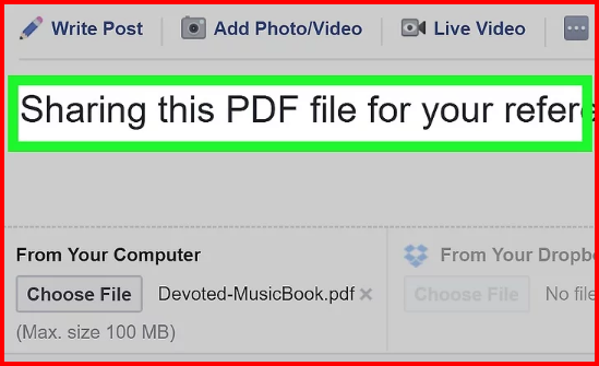 Upload Pdf To Facebook