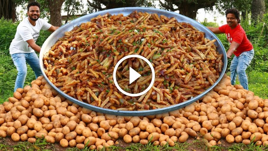 Honey Chilli Potato Recipe | Chilli Potatoes Recipe | Easy Potato Starter Recipe By Grandpa Kitchen