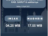 Jadwal Imsak, Buka Puasa, Sahur dan Waktu Shalat untuk Garut dsk, Hari Selasa 13 April 2021