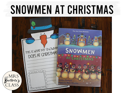 Snowmen at Christmas book study literacy unit with Common Core aligned companion activities and a craftivity for K-1