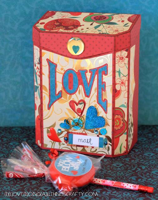 Vintage Valentine Mailbox | Valentine's Day Classroom Treats | SVGCuts