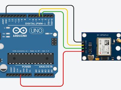 schematics NEO-6M gps module Arduino