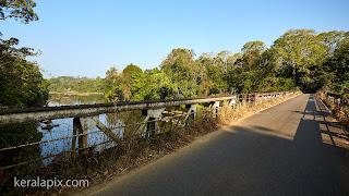 Vazhachal Bridge on Valparai - Athirapilli Rd near Vazhachaal  waterfalls