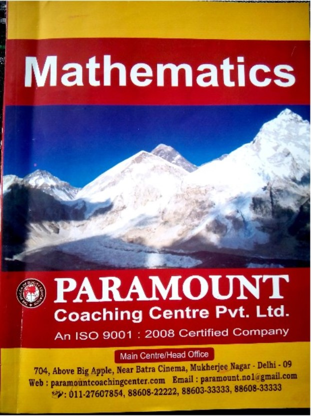 Paramount Mathematics : For All Competitive Exam PDF Book