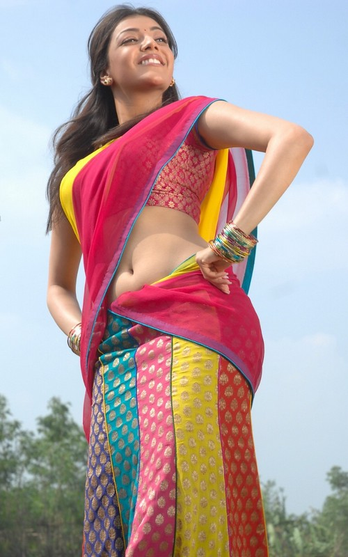 Wallpaper Beautiful Baby Girl Actress Stills Kajal Agarwal In Saree Stills