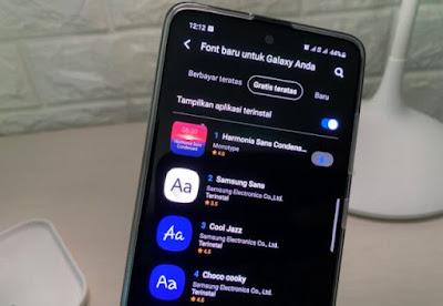 Tips Mengatasi Font Tidak Didukung Pada Hp Samsung Galaxy