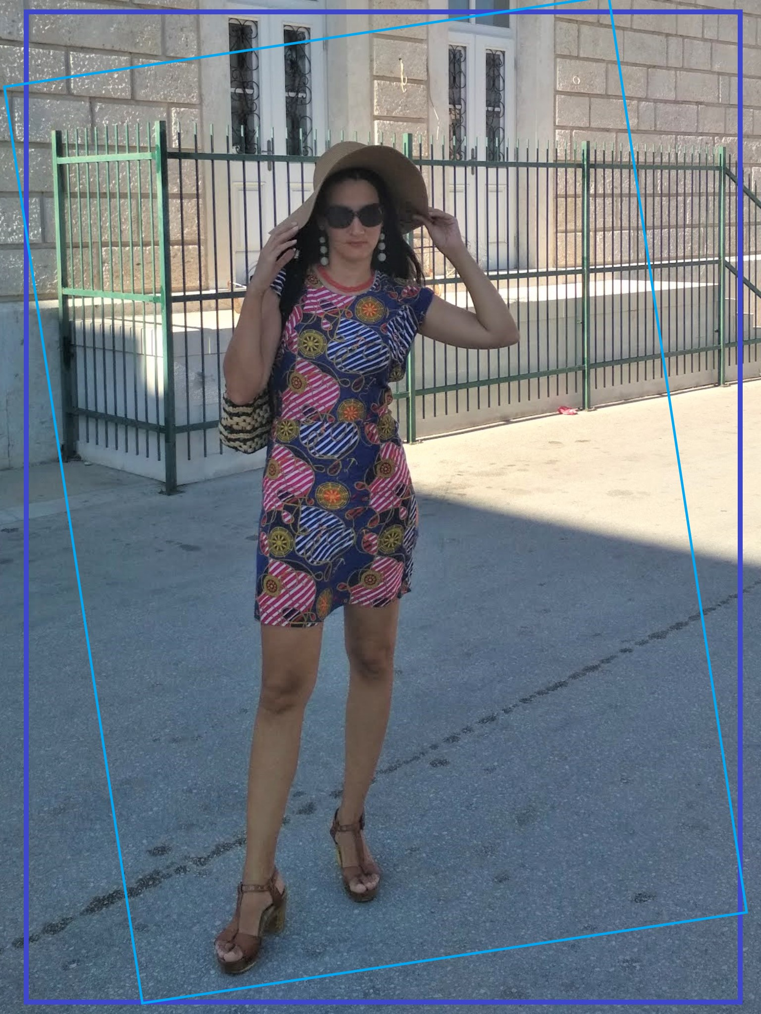 #MODAODARADOSTI 10 WAYS TO WEAR A BLUE AND RED NAUTICAL PATTERN DRESS
