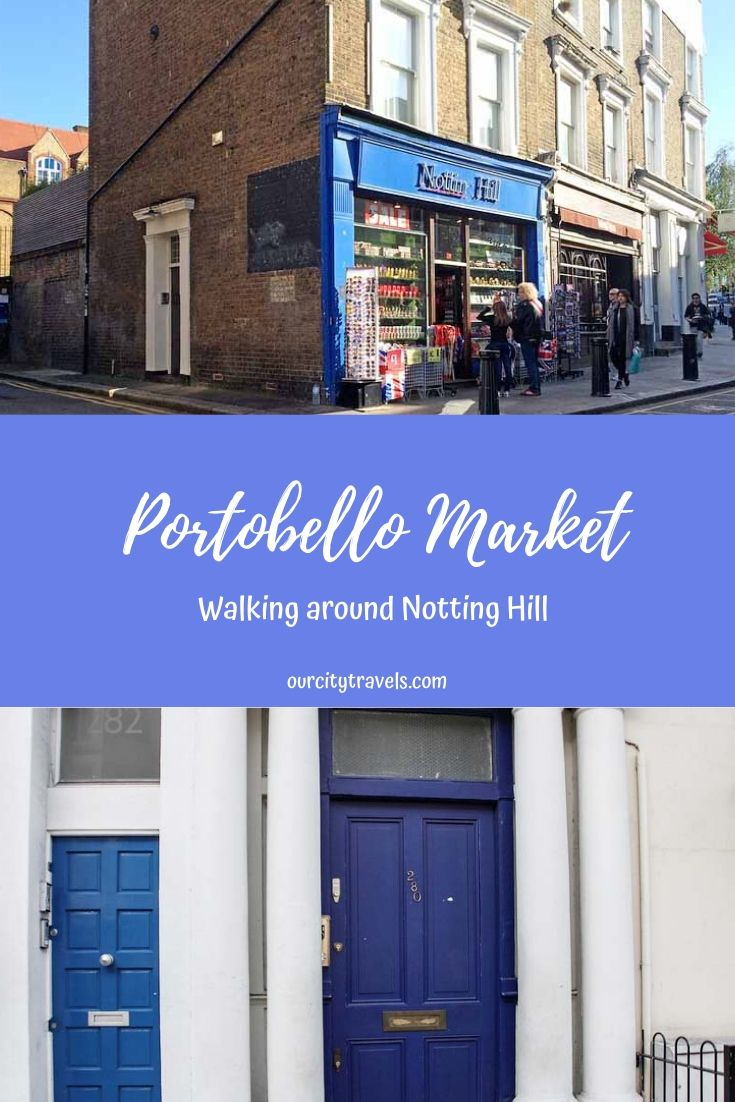 Portobello Market - walking around Notting Hill