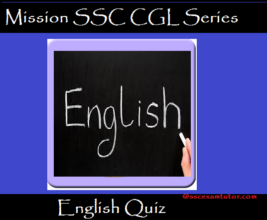 English Quiz on Spotting Error for SSC CGL, SSC CHSL, SSC CPO