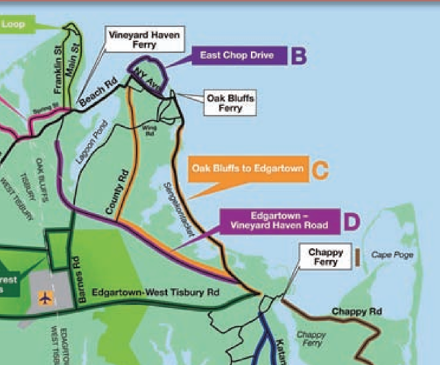Bike Paths on Martha's vineyard