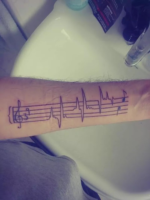 Theindeepink Music Notes Tattoos For The Music Lovers