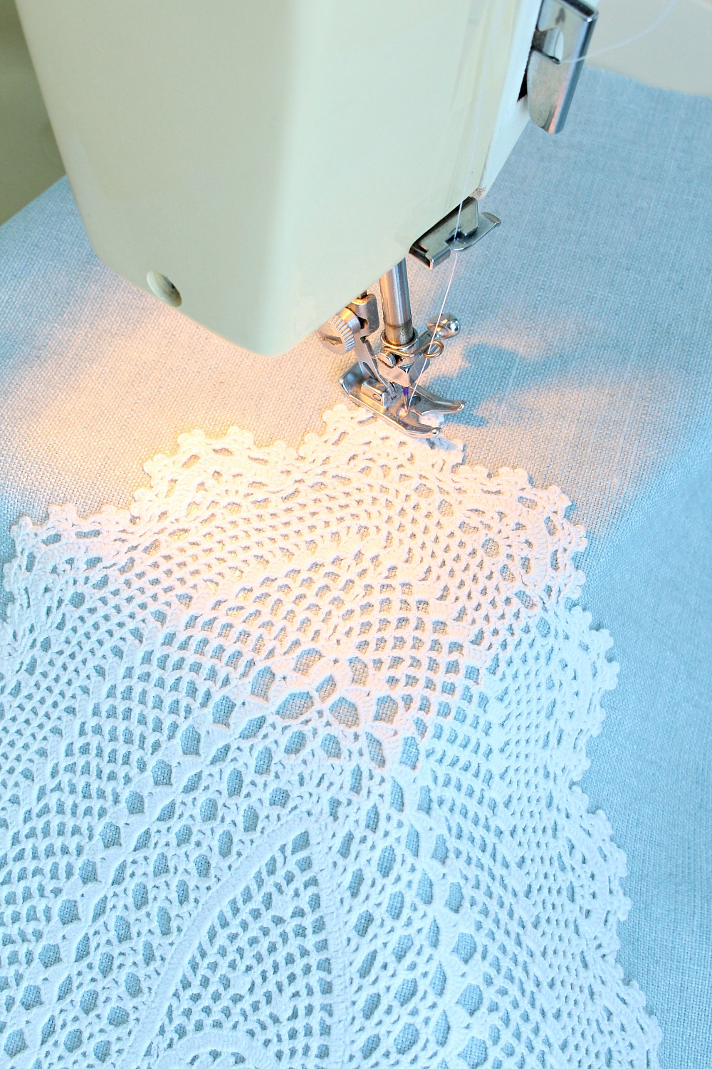 A diy sewed doily project