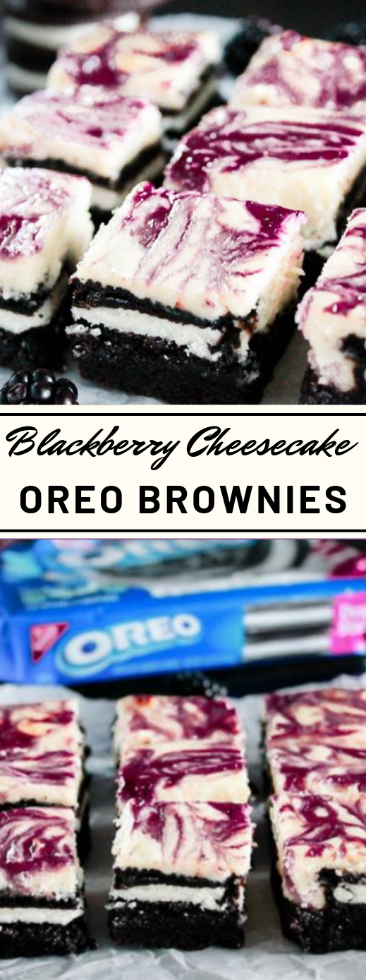 Blackberry Cheesecake OREO Brownies #desserts #cake #oreo #brownies #blackberry