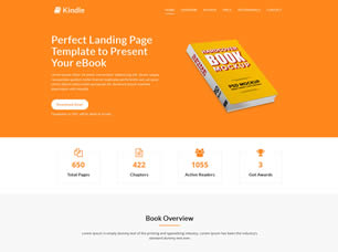 Kindle Landing Page Html5 Template