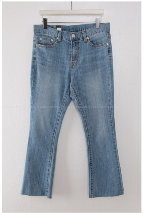 Raw Hem Washed Whiskered Jeans