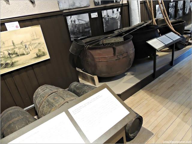 Ollas y Barriles en el Museo de las Ballenas de New Bedford