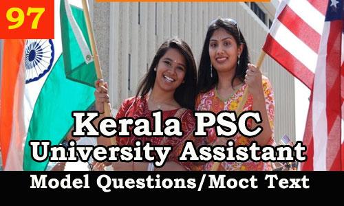 Kerala PSC Model Questions for University Assistant Exam - 97