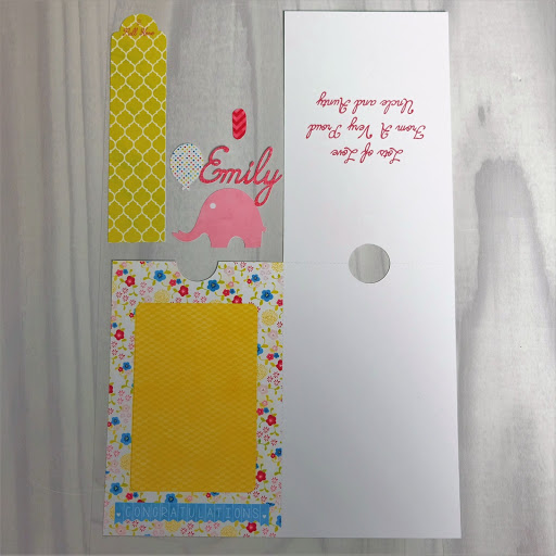 Free pop up slider card after print and cut but before assembly.  Tutorial by Nadine Muir for Silhouette UK Blog