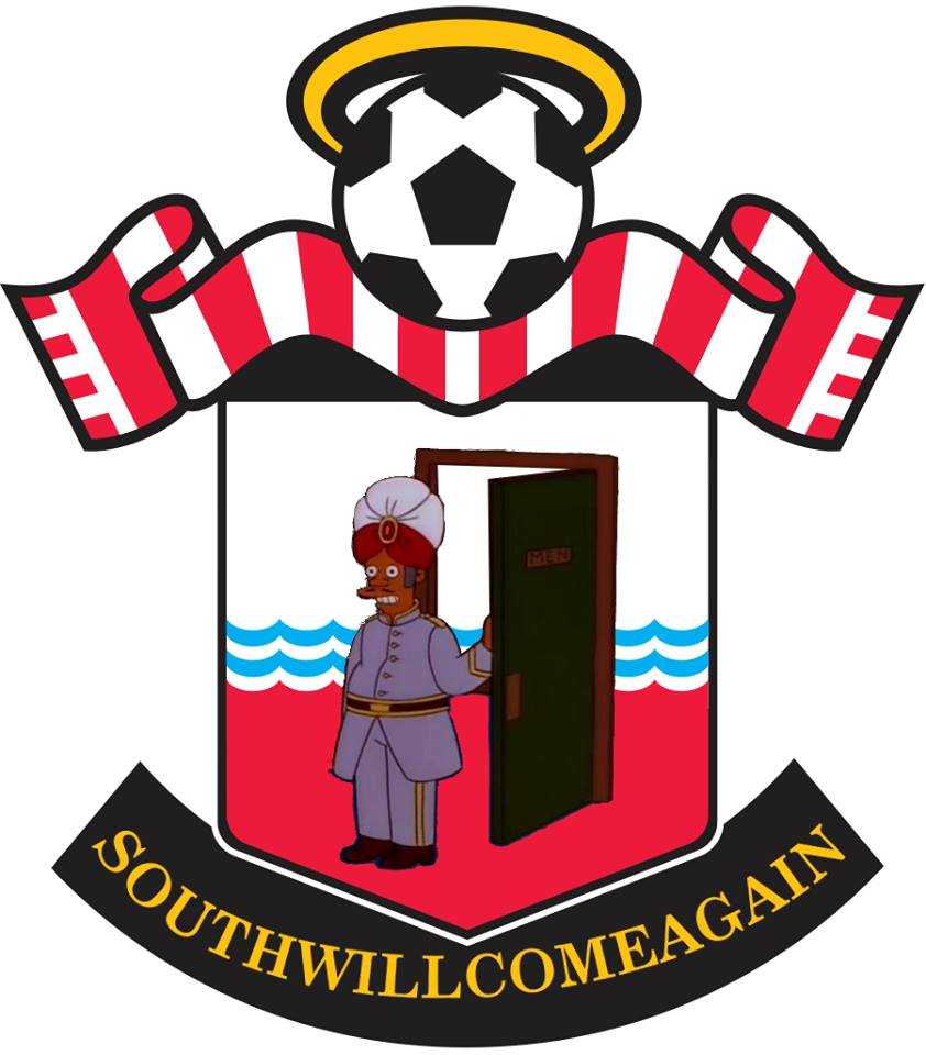 The Simpsons' version logo of Southampton