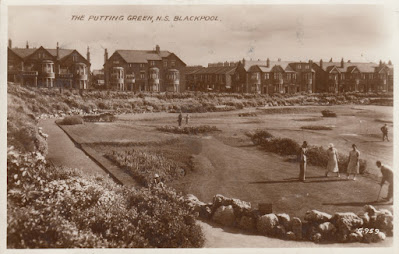 The Putting Green, North Shore, Blackpool. Posted 10 October 1938