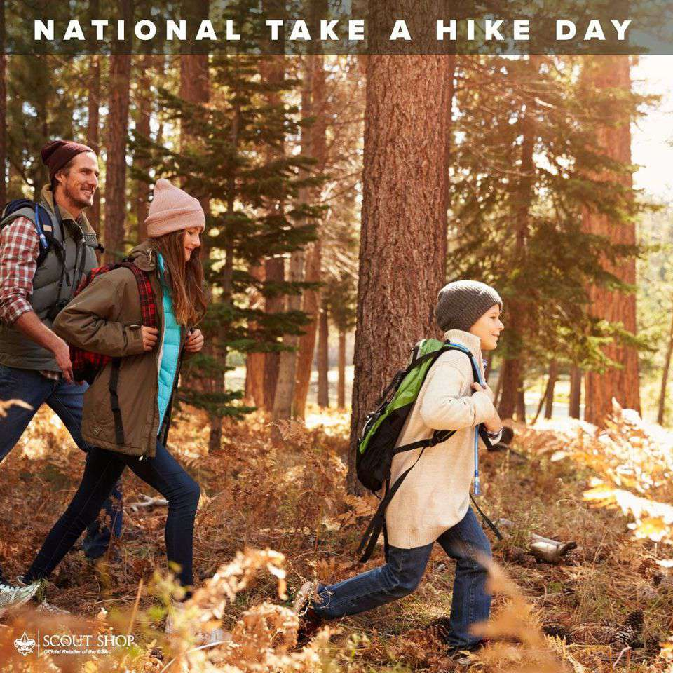 National Take a Hike Day Wishes Beautiful Image