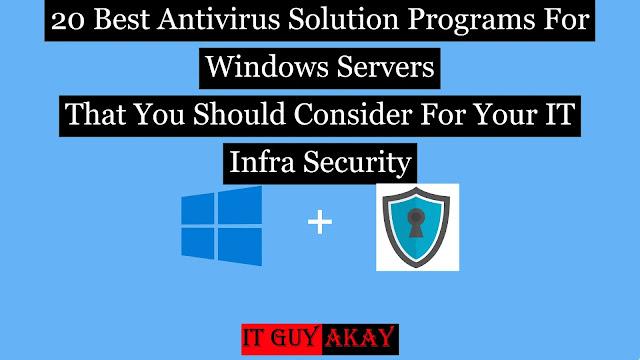 best antivirus programs for windows server