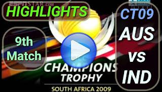 AUS vs IND 9th Match