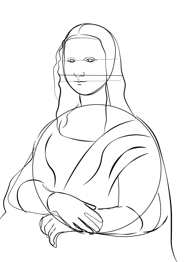 Step 8 - Mona lisa