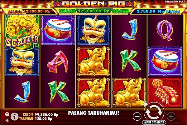 Main Slot Gratis Indonesia - Golden Pig (Pragmatic Play)