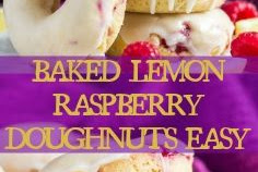 BAKED LEMON RASPBERRY DOUGHNUTS EASY