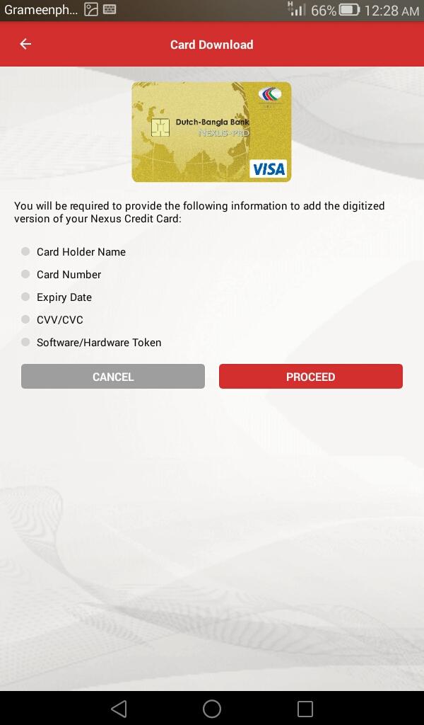 Al Momin Jamiul: How to add Nexus Credit Card in DBBL