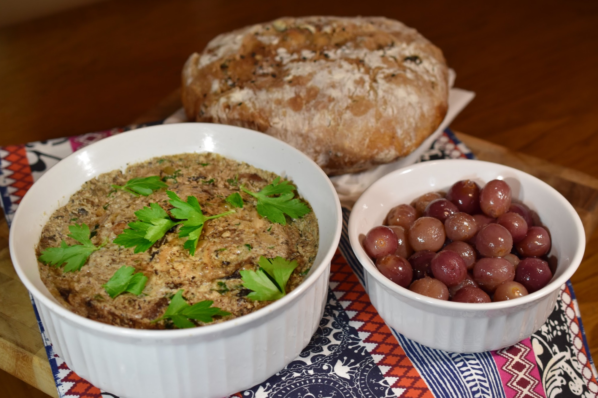 Mushroom Terrine with Grape Compote
