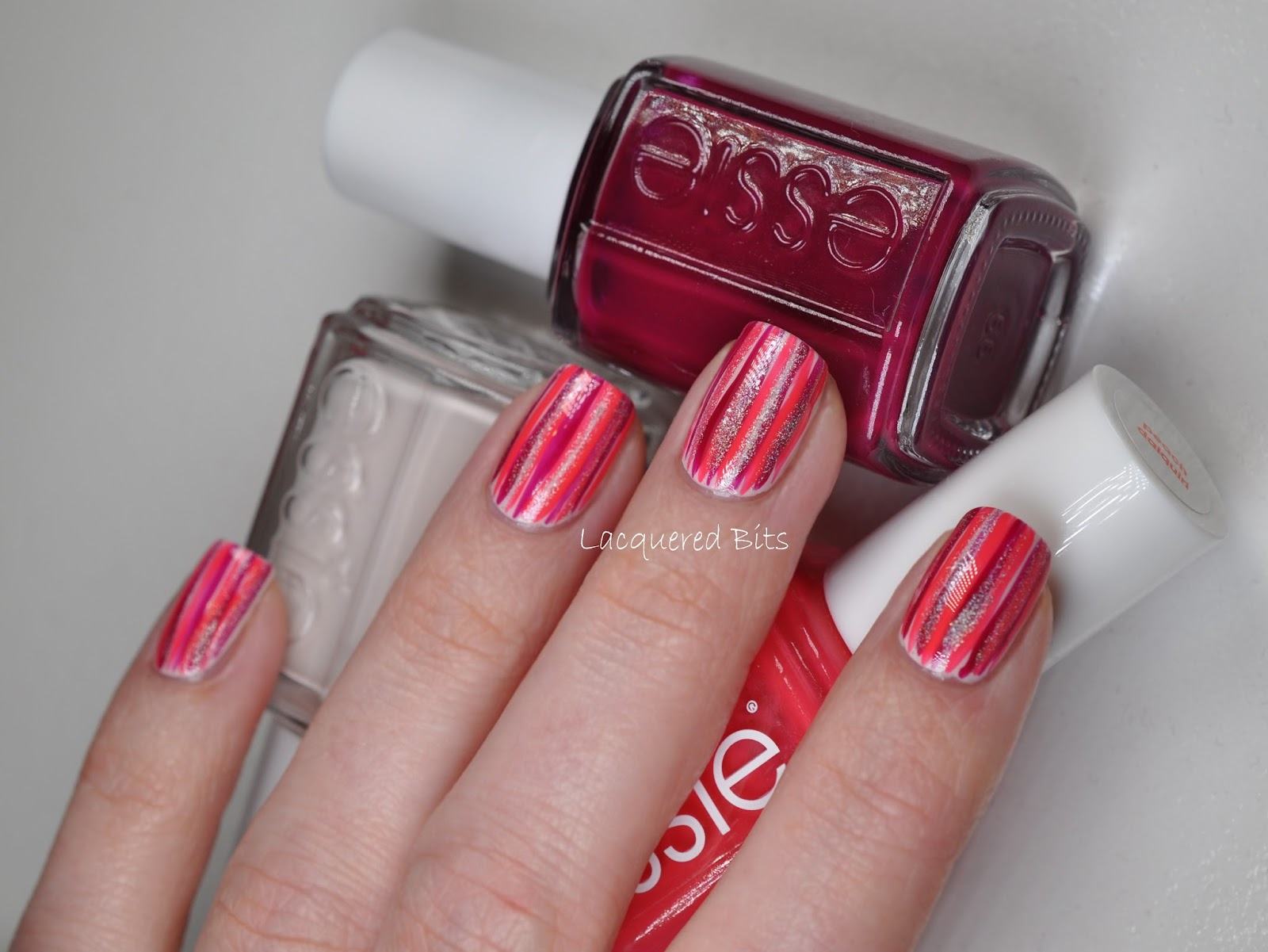 Essie Red & Glitter Bars - Lacquered Bits
