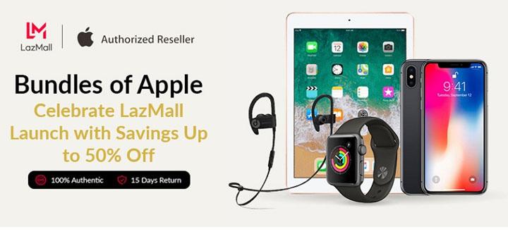 Promosi produk Apple di LazzMall