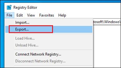 Backup Registry File.