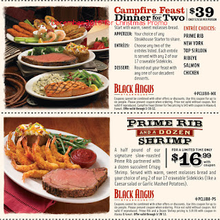 free Black Angus Steakhouse coupons for december 2016