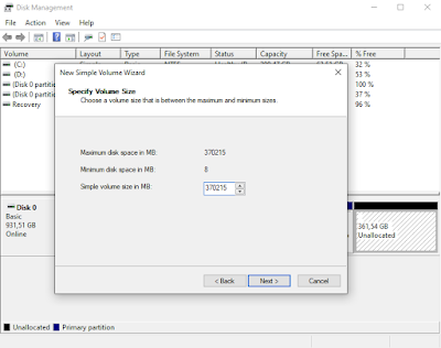 cara partisi harddisk di windows