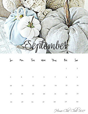 Free Calendar September Home Chic Club