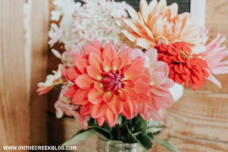 fresh flowers in our home | On The Creek Blog