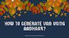 How To Generate UAN Using Aadhaar?