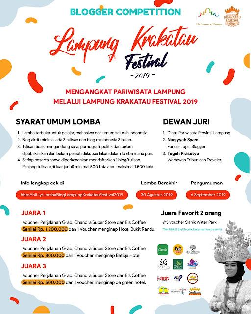 Lomba Blog Lampung Krakatau Festival 2019