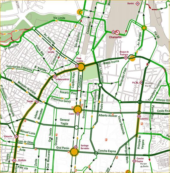 Calles recomendadas para llegar en bici a Plaza de Castilla