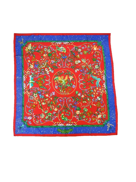 Hermes Pierres d'Orient et d'Occident in red and royal blue