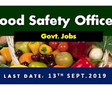 Govt Job   Food Safety officer Recruitment   OSSC August 2019