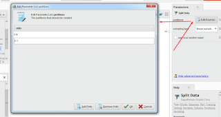 Split Data Rapidminer