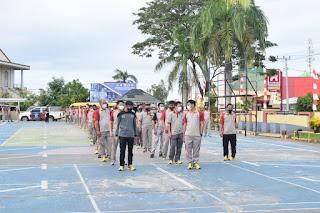 Jaga Imunitas Tubuh, Polres Luwu Timur Gelar Olahraga pagi
